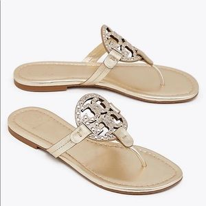 Tory Burch Embellished Miller Sandal